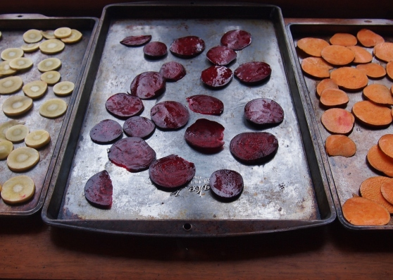Root vegetable slices