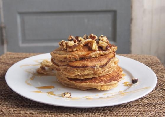 Quinoa pancakes stack