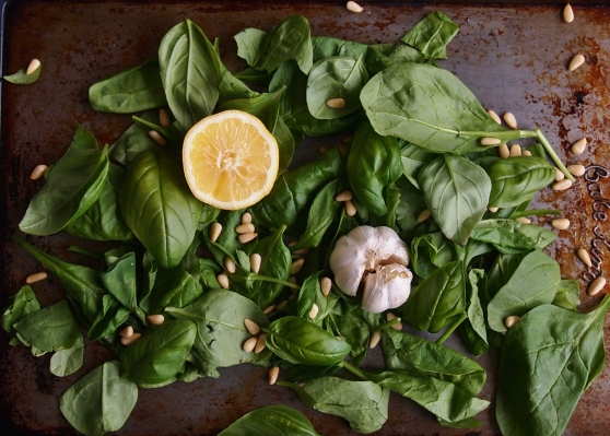 Roasted garlic pesto ingredients