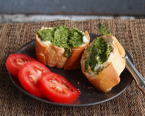Roasted garlic pesto